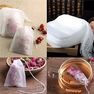 100Pcs/Lot Teabags 5.5 x 7CM Empty Scented Tea Bags With String Heal Seal Filter