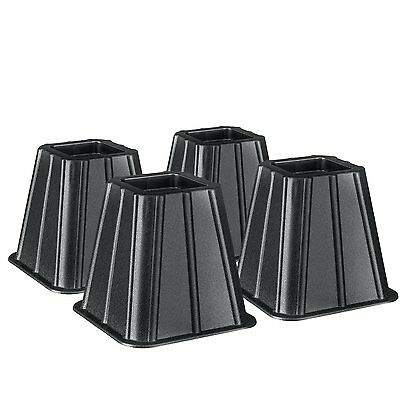 """Bed and Furniture Risers by Greenco Set of 4 - Great for Storage - 6"""" High"""