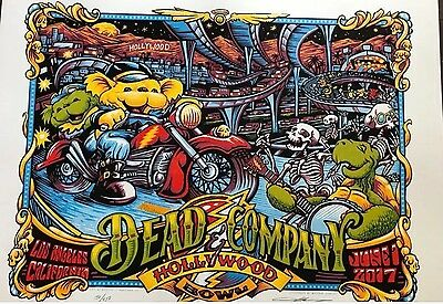 Dead And Company Hollywood Bowl Signed By Artist AJ Masthay # 450 Of 450
