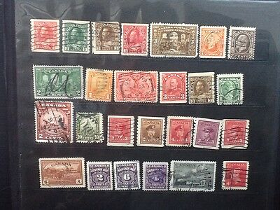 Canada Nice Selection of Old Used stamps  VG  Lot 5477