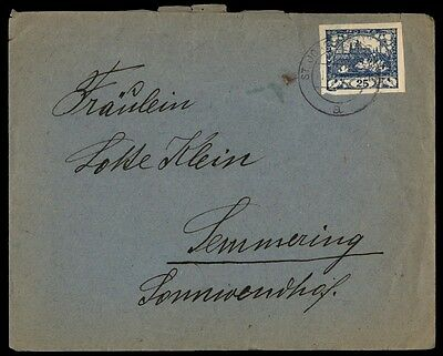 Slovenia single franking on cover to Semmering 25 rate blue classic