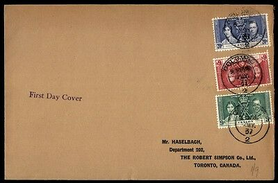 May 1937 illustrated royalty issues Ceylon first-day cover