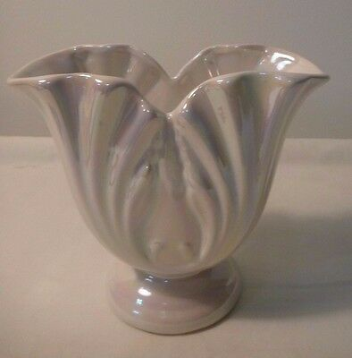 Raynham vase, White with Mother of pearl lustre