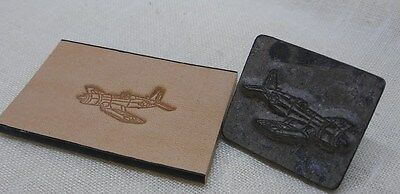Corsair Airplane Craftool Rare Discontinued  Leather Tool Stamp