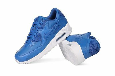 NEW NIKE AIR MAX 90 LTR (GS) Boys Trainers Sneakers Kids Blue White UK 3 4 5 6
