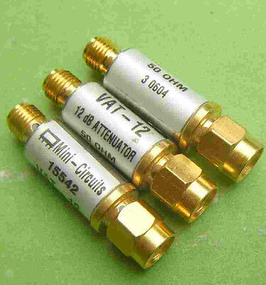 Mini-Circuits VAT-12 DC to 6 GHz, 50 Ohm, 12 dB, 1 W, SMA (M-F) Coax Attenuator