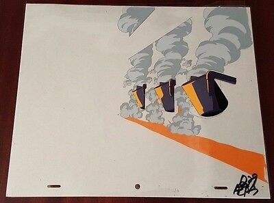 "Pearl Jam ""Do the Evolution"" Animation Cel & 2 Production Drawings *RARE*"