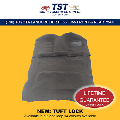 Moulded Car Carpets (T16) Toyota Landcruiser Hj55 Fj55 Front & Rear 72-80