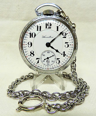 1930 Hamilton 21 Jewels 992 Railroad Pocket Watch with Monty Dial, Serviced!