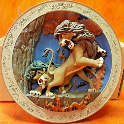 Disney Lion King The Battle To Be King 3D Plate #2682