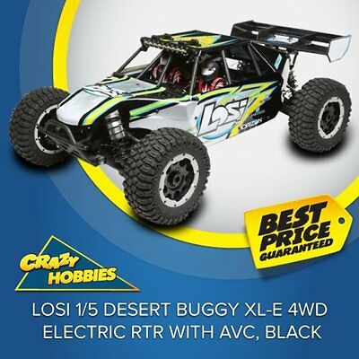 LOSI 1/5 Desert Buggy XL-E 4WD Electric RTR with AVC, Black