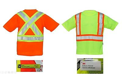 Forcefield V-Neck Short Sleeve Tee with Chest Pocket 3M Reflective Material NEW