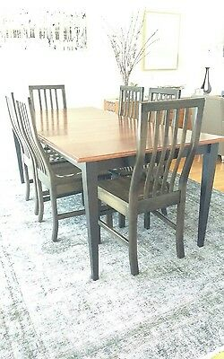Dining Table and 6 Maple Chairs
