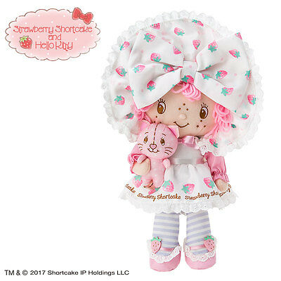 Hello kitty x Strawberry Shortcake Plush F/S Worldwide SANRIO from JAPAN