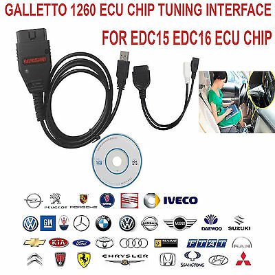 New Version GALLETTO 1260 OBD2 EOBD ECU Auto Chip Tuning Remap Flasher Scan Tool