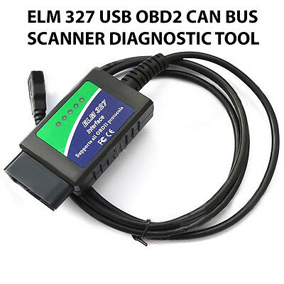 USB ELM327 OBD2 Protocol Auto Diagnostic Engine Fuel Scan Fault Code Reader Tool