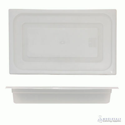 12x Food Pan with Clear Lid 1/1 GN 65mm Full Size Polypropylene Gastronorm
