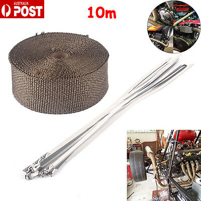 Titanium Wrap 50Mm*10M + 10 Stainless Steel Ties Thermal Insulation Au Post