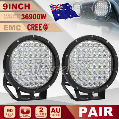 9inch 6570W HID  NEW CREE LED Driving Work Lights Spotlights Offroad 4x4 SUV UTE