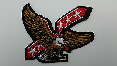 "1 pc Spec offer Star/Eagle Biker Emb Patch 4-1/4x3-1/4"" sew/iron-on"