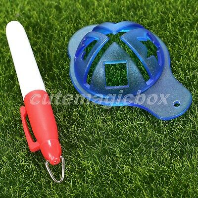 NEW Golf Ball Line Linear Marker Template Drawing Alignment Tool with Marks Pen