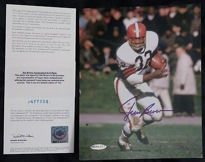 Jim Brown signed 8x10 photo Upper Deck authenticated COA Limited / 232 Browns