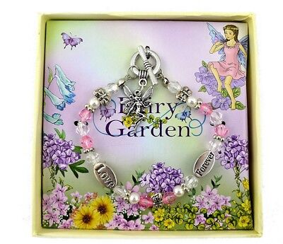 FAIRY BRACELET - jewellery girls pink purple accessory charms pendant children