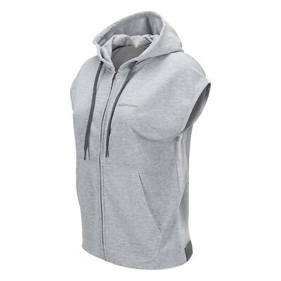 Peak Performance Sleeveless Hoodie with Relaxed Fit in Light Grey