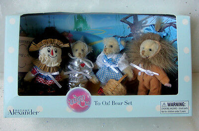 Madame Alexander Limited Edition of 1000  Wizard of Oz Bear Set of Four