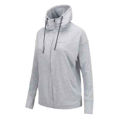 Peak Performance Structured Hoodie with Relaxed Fit in Light Grey