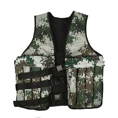 Military Wearproof Camouflage Weighted Vest Running Endurance Training Oxford