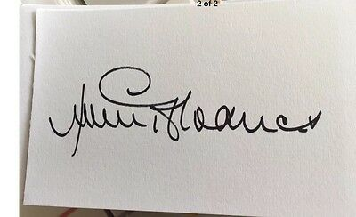 Jimmy Greaves Signed White  Cards Direct From His Agent £9