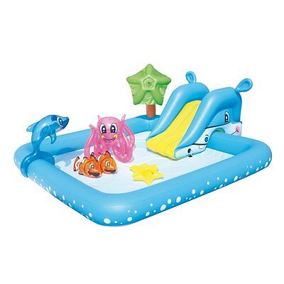 Inflatable Swimming Pool Aquarium Play Set Center Ring Playing Kit For Kids Bday