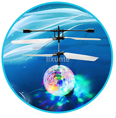 Children Kids Flying RC Ball Led Flashing Light Aircraft Helicopter Gift UK