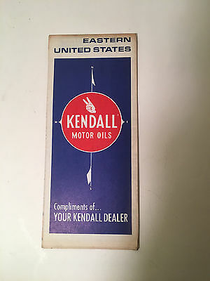 1973 Kendall Motor Oil Eastern United States Road Travel Map Nice!