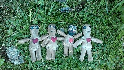 voodoo dolls handmade small cloth people ready to use in spells enchantments
