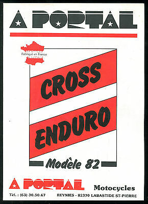 Catalogue PORTAL 125 / 250 / 480 Cross 240 Enduro 1982 ROTAX - Brochure Dépliant