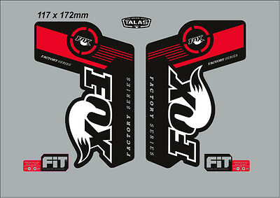 Fox Talas Factory Series Fork Decal Set Red