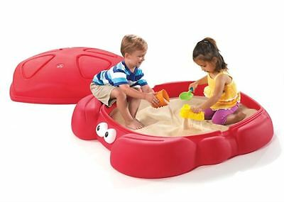 Step2 Crabbie Sandbox Cover 2 Seats Built,Outdoor Kids Play Toy New Set Backyard