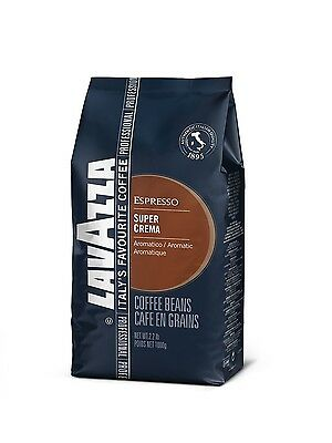 Lavazza Super Crema Coffee Beans - 1kg Bags x 1, 2 or 6 - Free Delivery!