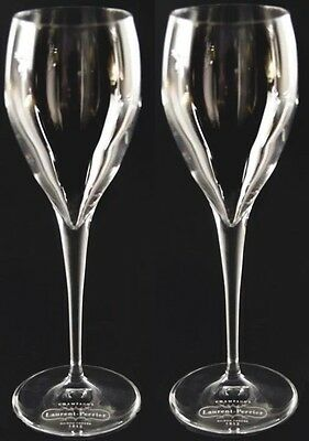 Laurent Perrier Champagne Branded  Tulip  Flutes X 2 New