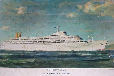 John Stobart Advertising Poster Print of P&O ORIENT LINES S.S. CANBERRA-c1960's