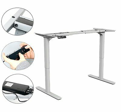 YaeKoo Electric Height Adjustable Desk Frame Sit-Stand Desk Dual Motor -BM