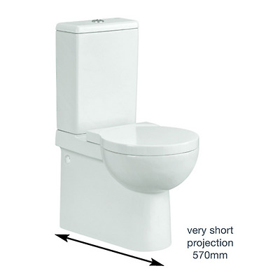 Nano Close Coupled Short projection Ceramic Toilet With Soft Close Seat