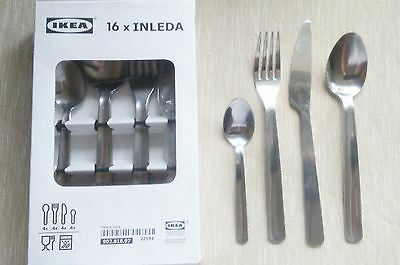 IKEA Inleda 16 Piece Stainless Steel Cutlery Set Kitchen Essentials Dinning Set