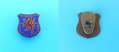 GLASGOW RANGERS FC  vintage Pre-WW2 enamel buttonhole pin Supporters Association