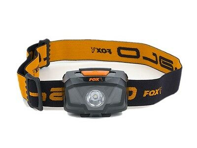 NEW 2017! FOX Halo 200 Headtorch / flashlight / Supplied with 3 x AAA batteries