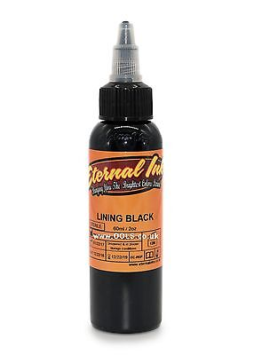 100% Authentic Eternal Tattoo Ink Lining Black 2oz Large Bottle - UK Supplier