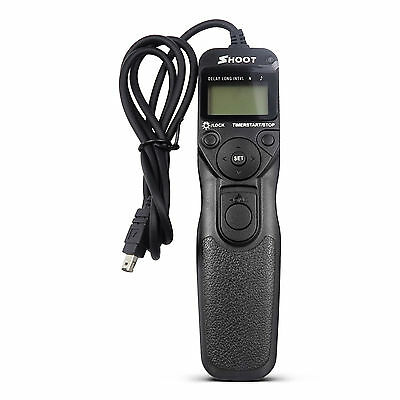 Shoot MC-DC2 Timer Remote Shutter Release MC-N3 for Nikon D5300 D7200 D3200