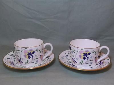 2 Coalport Pageant Bone China Coffee Cups & Saucers
